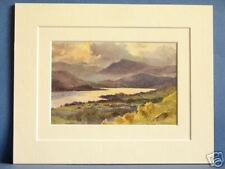 ORREST HEAD LAKE DISTRICT WINDERMERE CUMBRIA DOUBLE MOUNTED HASLEHUST PRINT 10X8
