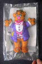 "Muppets FOZZY BEAR 7"" Stuffed Animal Original sealed wrap Vintage"