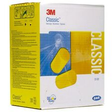 New! 3M 310-1001 Classic Earplug  Uncorded 200 Pair Per Box  *Free US Shipping*