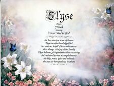 Lily Themed Name Meaning Prints Personalized (Flower, Floral)