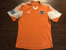 Houston Dynamo 2013 2014 Home Shirt Jersey Adidas Orange Large MLS Soccer