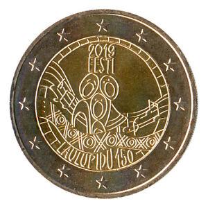 Sondermünzen Estland: 2 Euro Münze 2019 Liederfest Gedenkmünze Sondermünze