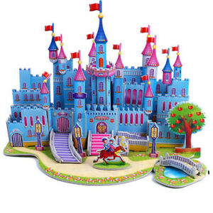 3D New Castle model Puzzle Jigsaw Edition for Kids Adult Puzzles Education Toy