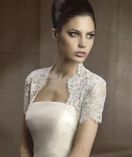 New LACE Wedding Jacket/Bolero Bridal Dress Accessory Stock White/Ivory
