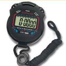 Digital Handheld LCD Chronograph Timer Sports Stop Watch Stopwatch Counter Alarm