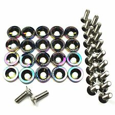 Neo Chrome 20pcs Billet Aluminum Fender Bumper Washer Engine Bay Dress Up Kit