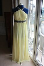 New Prom Or Evening size 10 Yellow Lined Chiffon Long dress sequin detail on top