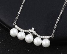 Beauty Modeschmuck-Halsketten & -Anhänger mit Zirkonia-Perlen