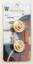 Guitar Hardware - Straplocks Locking Button STRAP LOCKS Set of 2 - GOLD