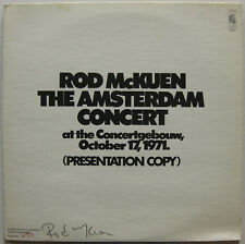 ROD McKUEN The Amsterdam Concert 1971 US Adavnce PROMO LP Signed & Numbered FOLK