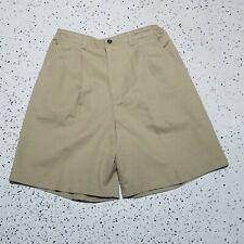 Lee Casuals NWT Khaki Shorts ~ Sz 14 ~ High Rise Stretchy Waist ~ Light Brown
