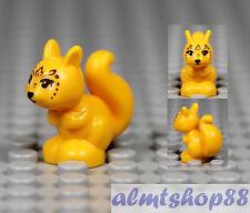 LEGO - Squirrel w/ Black Eyes - Bright Orange Zoo Farm Animal Minifigure Friends