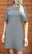 Party Short Sleeve Skater Striped Dresses for Women