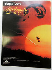 AIR SUPPLY Sheet Music YOUNG LOVE Columbia Publ. 80's SOFT ROCK Pop AC
