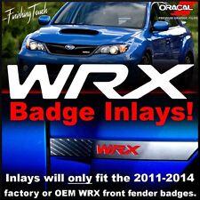 Subaru WRX Inlay Front fender badge Overlay 2011 2012 2013 2014 4th gen stickers
