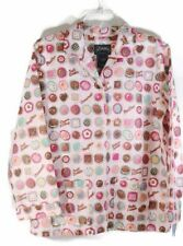 Nick and Nora Chocoholic Pajama Sleepwear Top Pink Chocolate Bon Bon Girls XL 16