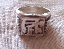 925 Sterling Silver Signet Ring Size: 19