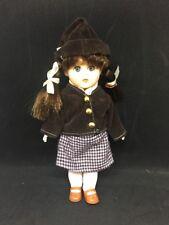 Vtg Ginny Rubber Doll Looks Porcelain w/ Houndstooth Skirt8�