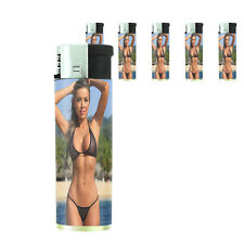 California Pin Up Girl D10 Lighters Set of 5 Electronic Refillable Butane