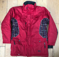 """XMTN Womens Size UK 12 RED Ski Snowboard TECHNICAL Jacket Coat Chest to 38"""""""