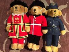 Merrythought Ironbridge Shops London Royal Guards, Police 3 Teddy Bear Set (B1)