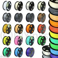 3D Printer Filament 1.75mm 3mm ABS PLA 1kg 2.2lb RepRap Marker Bot 30+ Colors