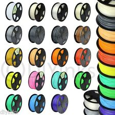 3D Printer Filament 1.75mm 3mm PLA ABS 1kg 2.2lb RepRap Maker Bot 30+ Colors