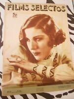 Revista Antigua - FilmS Selectos - Año VI Publicado el 26 de Enero de 1935 Moda