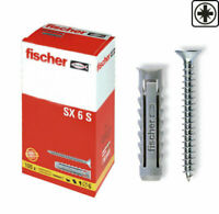 Fischer SX 6 S vite e tassello in nylon con bordo 100 viti + 100 tasselli 570021