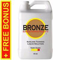 BRONZE - VERY DARK  8 oz - Spray Tan Solution / Sunless Tanning Self Tanner Mist