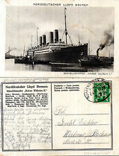 More details for german passenger liner ss kaiser wilhelm ii postcard dated 18 july 1924