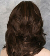 Trends Sexy Women Wig Mix Brown Highlighting Medium Wavy Synthetic Hair