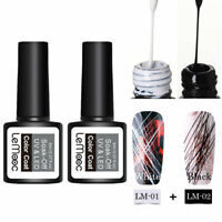 2pcs LEMOOC UV Gellack Elastic Painting Liner Soak Off Gel Varnish Nagel Art