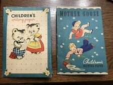 Vintage Children's writing paper sets with envelopes, printed in USA