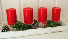 Kerzenständer Adventskranz weiss Holz Metall Shabby Vintage 15 cm x 45 cm
