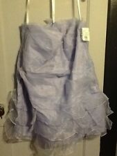 DAVIDS BRIDAL Strapless Drop Waist Tiered Skirt Style F15243 Bluebird Size 24W