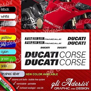 Series Adhesives Stickers Compatible DUCATI 1299 Panigale Logos Carene Tank