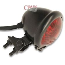 LED Black Adjustable Stop/Tail Light Custom Ratt/Matte/Retro Racer/Scramble Bike