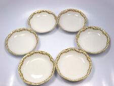 Antique Haviland Limoges France Schleiger Clover Leaf 6 Fruit Dessert Bowls