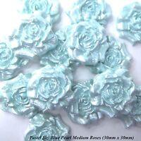 12 Pastel Baby Blue Pearl White Mix Sugar Roses wedding cake decoration 4 OPTION