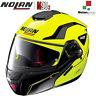 CASCO MOTO MODULARE APRIBILE NOLAN N90-2 STRATON N-COM 18 GIALLO FLUO LED YELLOW