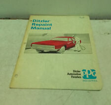 DITZLER REPAINT MANUAL AUTOMOTIVE FINISHES 48 PAGES