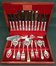 ROYAL ALBERT 51 PIECE BOXED SILVER PLATED CUTLERY SET, GOOD CONDITION, VERY RARE