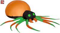 HALLOWEEN 5 FT ORANGE & GREEN SPIDER GEMMY  Airblown Inflatable