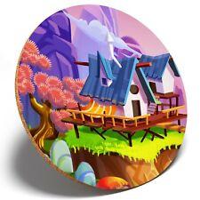1 x Colourful Magic Realm - Round Coaster Kitchen Student Kids Gift #16884