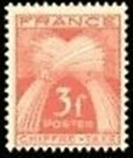 "FRANCE STAMP TIMBRE TAXE N° 73 "" TYPE GERBES 3F ROUGE-BRUN "" NEUF xx TTB"