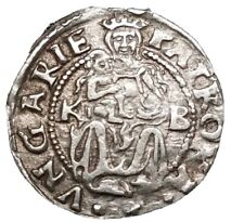 1554 Kb Hungary Silver World 1 Denar High Grade Taller 15 mm Foreign Currency $1