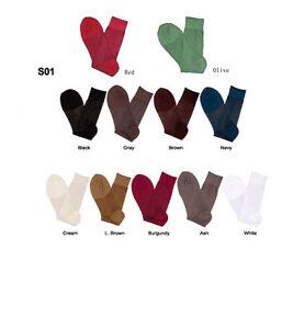 **Men's Silky Dress Socks ONE SIZE FIT 10-13 SHOES 7-12 S01