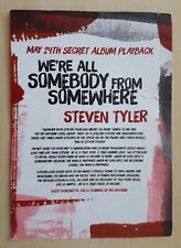 More details for steven tyler we're all somebody from somewhere promo album playback press card