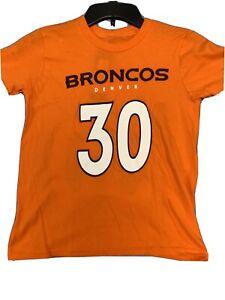 Denver Broncos Terrell Davis #30 Shirt New Youth Small Super Bowl Champs Elway